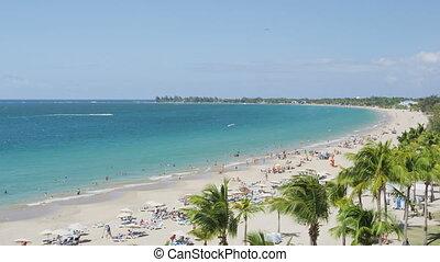 Isla Verde Beach in Puerto Rico - Tourist Vacation Travel ...