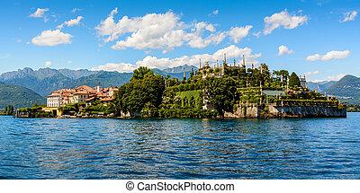 islad, bella, maggiore, 호수