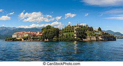 islad, maggiore, lago, bella