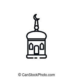 Islam church symbol vector design