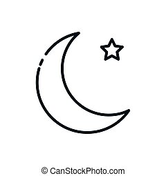 Islam cresent and star symbol design, Religion culture belief religious faith god spiritual meditation and traditional theme Vector illustration