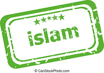 Islam grunge rubber stamp isolated on white background