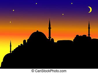 islam - Islamic city by night
