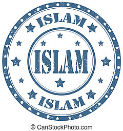 Islam-stamp - Grunge rubber stamp with word Islam,vector...
