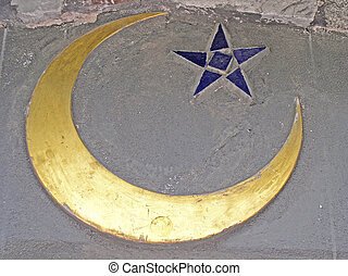 Islam - Crescent detail on wall