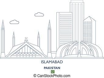 Islamabad City Skyline, Pakistan - Islamabad Linear City...