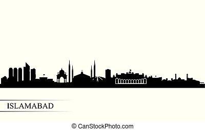 Islamabad city skyline silhouette background, vector...