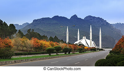 islamabad, faisal, mosquée, pakistan