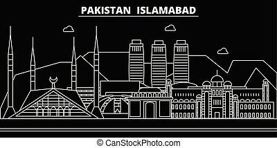 Islamabad silhouette skyline. Pakistan - Islamabad vector...