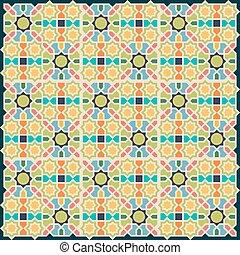 Islamic abstract geometric background.