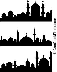 Islamic architecture - Islamic city silhouettes for...