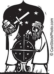 Astrologers - Islamic Astrologers study the night sky.