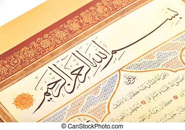 Islamic calligraphy - Islamic Calligraphy characters on...