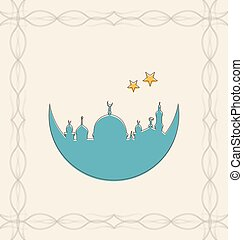Islamic Card for Ramadan Kareem