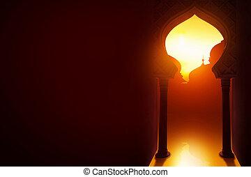 Islamic design greeting card background
