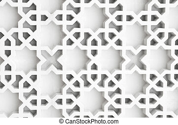 Islamic design - An example of Islamic design cast in...