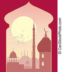 islamic, dia, cena