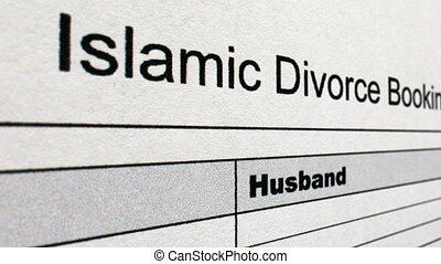 Islamic divorce form dolly shot