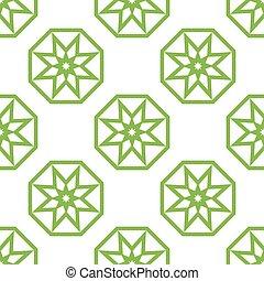 islamic, estrela, padrão experiência, seamless