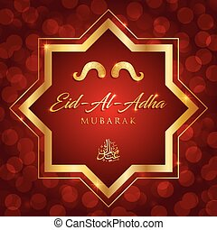 islamic festival of sacrifice, eid-al-adha mubarak greeting...
