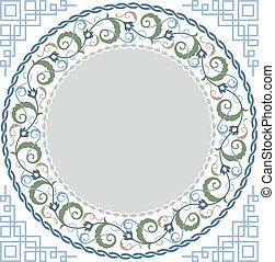 Islamic floral art - Vector illustration of islamic floral...