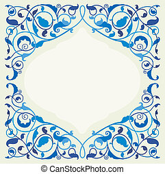 Islamic floral art in monochromatic - Islamic floral art...