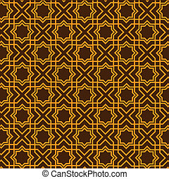 Islamic geometric pattern. Seamless vector.