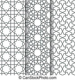Islamic geometry pattern - Set of Islamic oriental geometry...