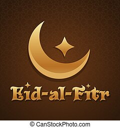 Islamic greeting card template. Eid-al-Fitr