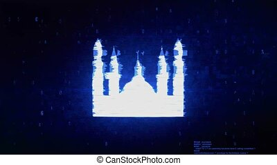 Islamic Icon, Mosque religious, muslim Symbol Digital Pixel...