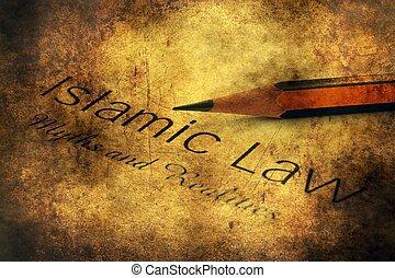 Islamic law grunge concept