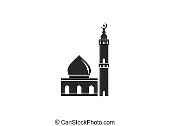 islamic mosque logo vector