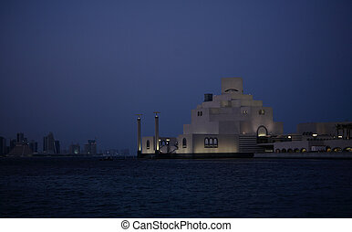 Islamic museum at night