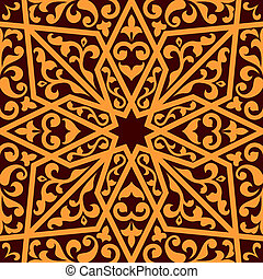 Islamic or arabic seamless pattern with elements of ornament