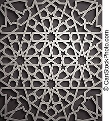 Islamic ornament vector , persian motiff . 3d ramadan...