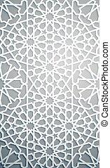 Islamic ornament vector , persian motiff . White background...