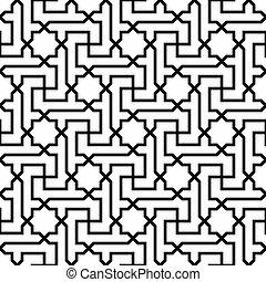 islamic, ornamento, seamless, padrão