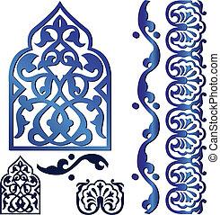 islamic, ornamentos