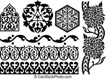 Islamic ornaments on white