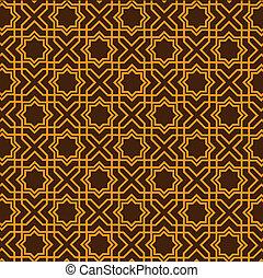 islamic, padrão, geomã©´ricas