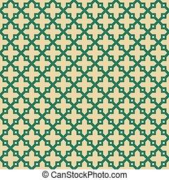 islamic, pattern., seamless, fundo