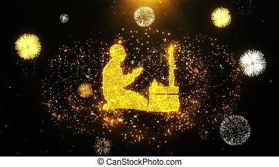 Islamic, pray, prayer, ramadan, religion Icon on Firework...