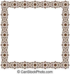 islamic, quadro
