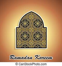 islamic, ramadan, ilustração, themed