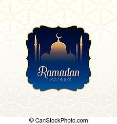 islamic ramadan kareem background design