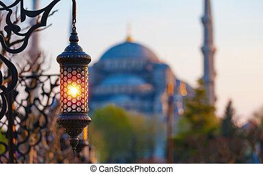 Islamic ramadan lantern in Istanbul, Turkey