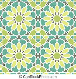 Islamic Star Tile - Islamic Tile Seamless Pattern