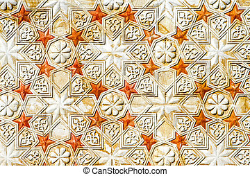 Islamic stars - Traditional medieval Islamic pattern with...