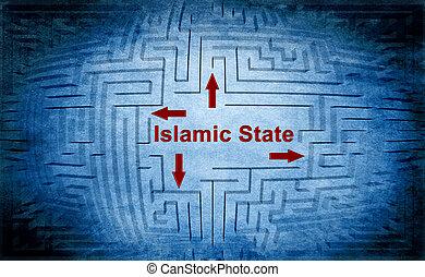 Islamic state maze concept