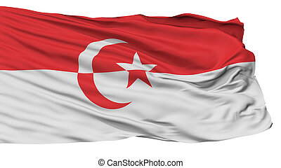 Islamic State Of Indonesia Flag, Isolated On White